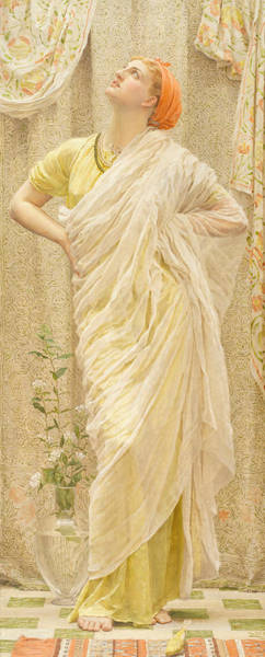 Canaries Painting - Canaries by Albert Joseph Moore