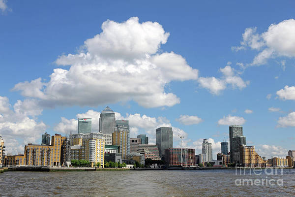 Photograph - Canary Wharf Docklands London  by Julia Gavin