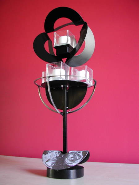 Sculpture - Candle Holder Model 6 by John Gibbs