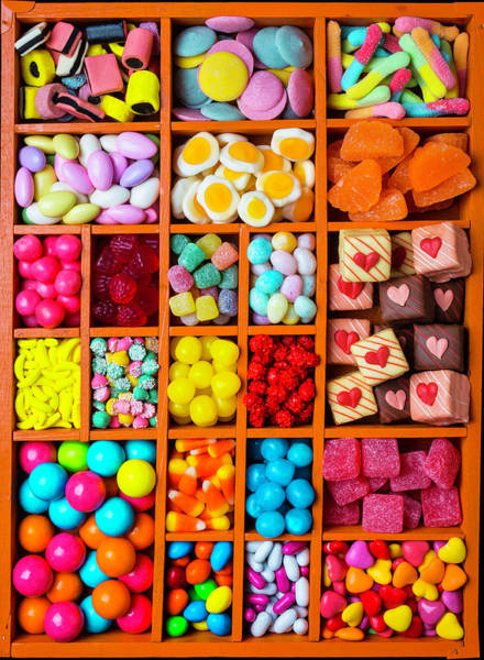 Jellies Photograph - Candy In Compartments by Garry Gay