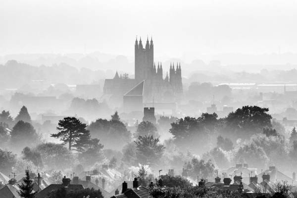 Roof Top Photograph - Canterbury by Ian Hufton