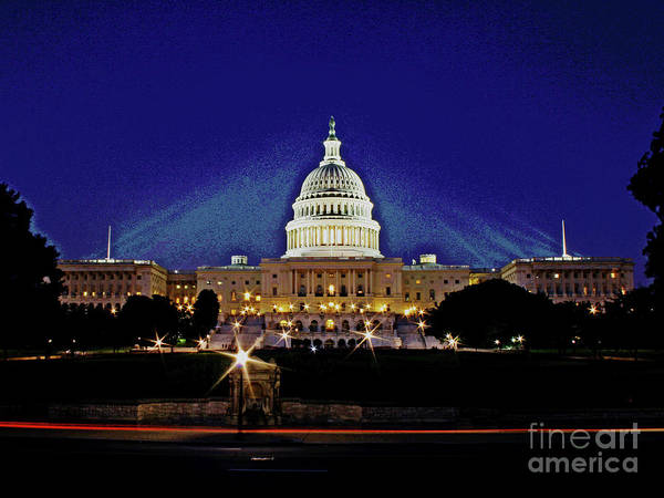 Photograph - Capitol Brights by Larry Oskin