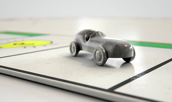 Wall Art - Digital Art - Car Icon On A Boardgame by Allan Swart