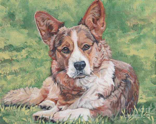 Wall Art - Painting - Cardigan Welsh Corgi by Lee Ann Shepard