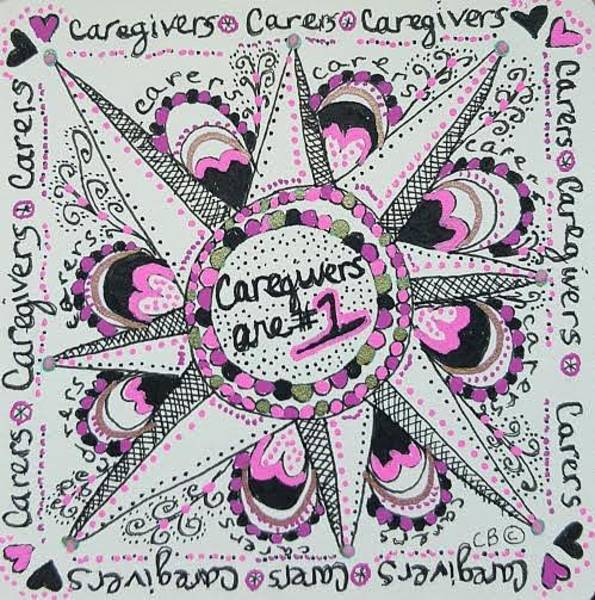 Drawing - Carer Love by Carole Brecht
