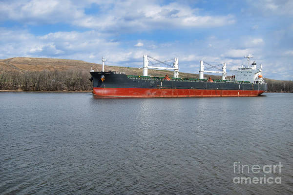 Photograph - Cargo Ship On American River by Olivier Le Queinec