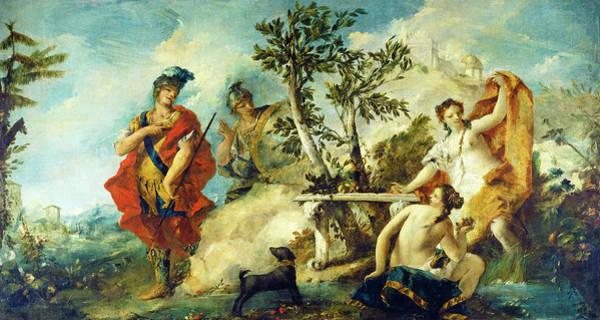 Painting - Carlo And Ubaldo Resisting The Enchantments Of Armida's Nymphs by Gian Antonio Guardi and Francesco Guardi