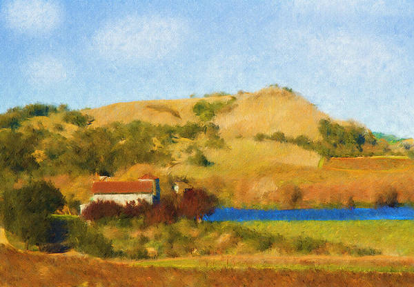 Digital Art - Carneros Valley by Mick Burkey