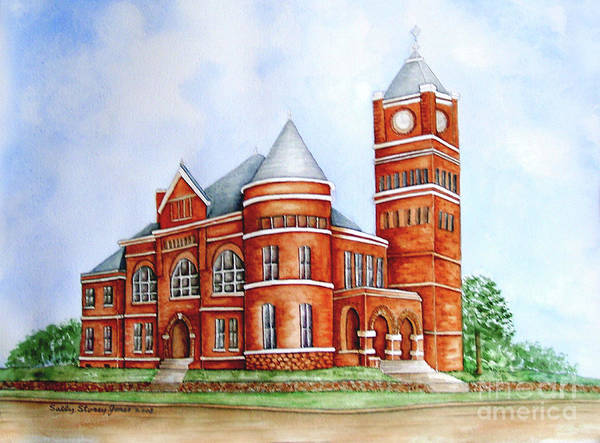 Courthouse Painting - Carroll County Courthouse Carrollton Ga. by Sally Storey Jones
