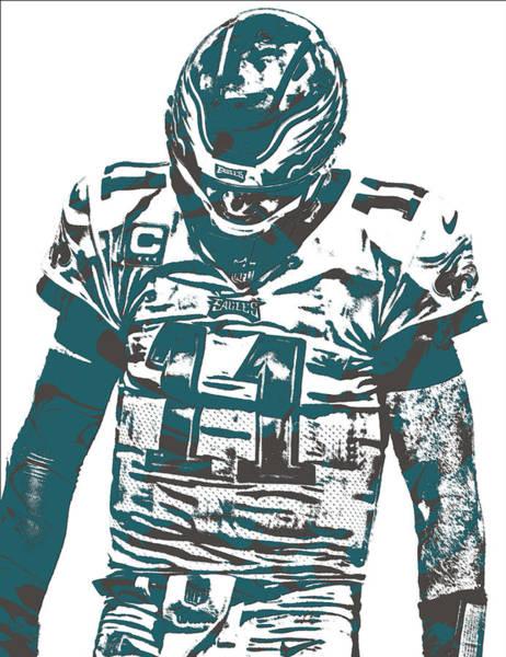Bird Of Prey Mixed Media - Carson Wentz Philadelphia Eagles Pixel Art 7 by Joe Hamilton