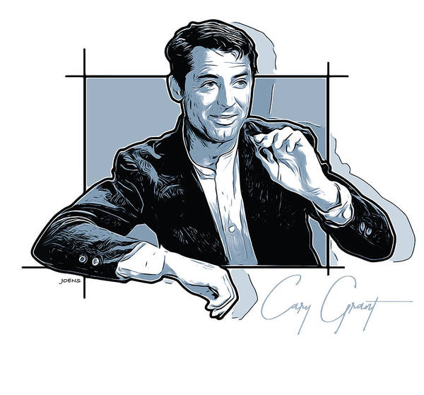 Golden Digital Art - Cary Grant by Greg Joens
