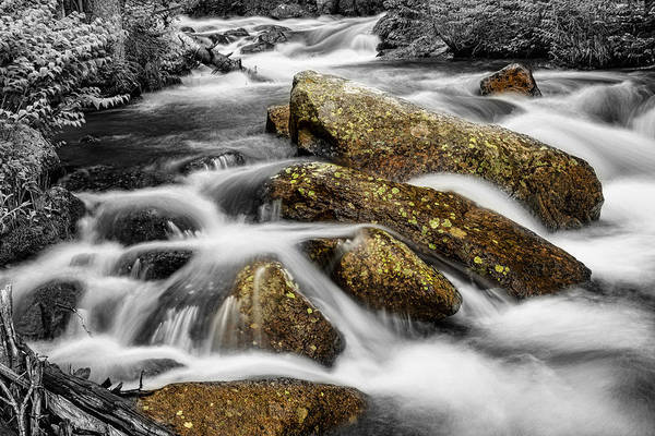 Photograph - Cascading Water And Rocky Mountain Rocks by James BO Insogna