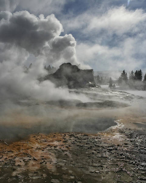 Photograph - Castle Geyser In Winter by Wes and Dotty Weber