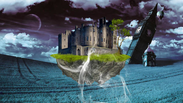 Cloud Cover Mixed Media - Castle In The Sky Art by Marvin Blaine