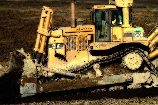 Photograph - Cat Bulldozer . 7d10945 by Wingsdomain Art and Photography