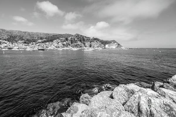 Wall Art - Photograph - Catalina Island Avalon Harbor Black And White Photo by Paul Velgos