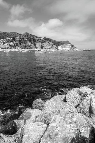 Wall Art - Photograph - Catalina Island Casino Black And White Photo by Paul Velgos