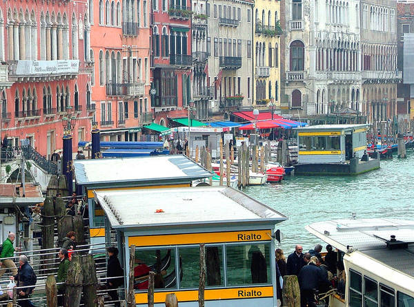 Wall Art - Photograph - Catching The Ferry In Venice by Mindy Newman