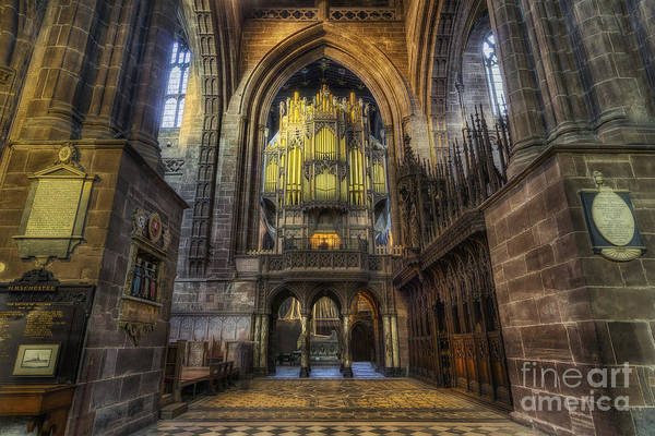 Photograph - Cathedral Organ by Ian Mitchell