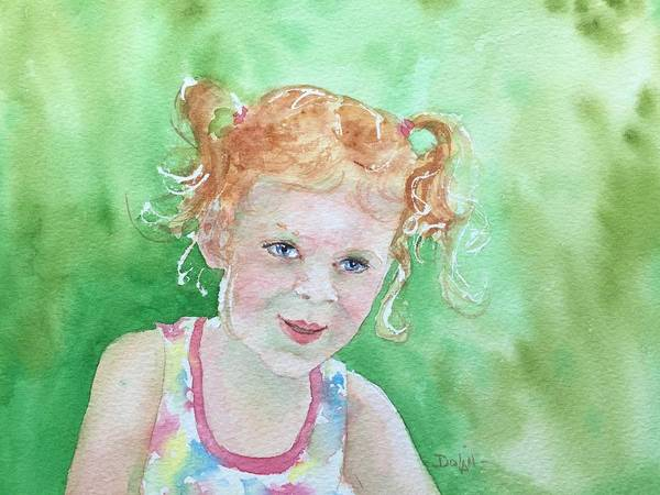 Painting - Catherine With Pigtails by Pat Dolan