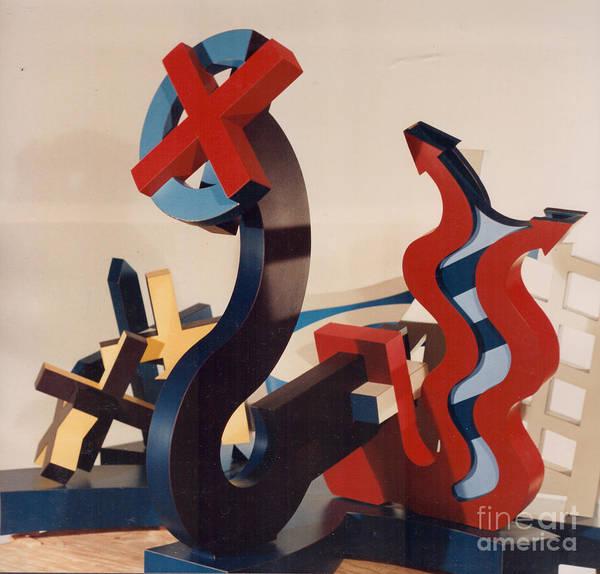 Sculpture - Cautionary Turnpike by Robert F Battles