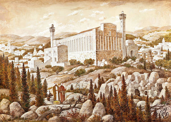 Hasidim Wall Art - Painting - Cave Of The Patriarchs by Aryeh Weiss