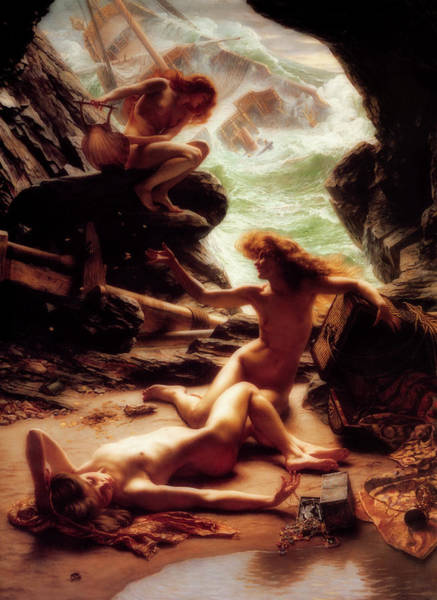 Wall Art - Painting - Cave Of The Storm Nymphs by Sir Edward John Poynter