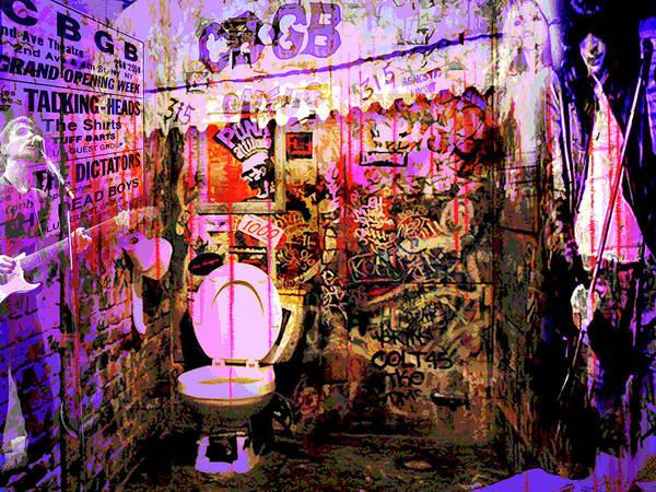 Blondie Digital Art - Cbgb's by Ray Brown