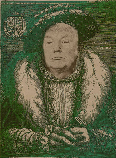 Celebrity Wall Art - Photograph - Celebrity Etchings - Donald Trump by Serge Averbukh