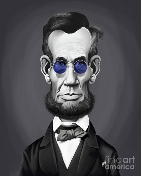 Digital Art - Celebrity Sunday - Abraham Lincoln by Rob Snow