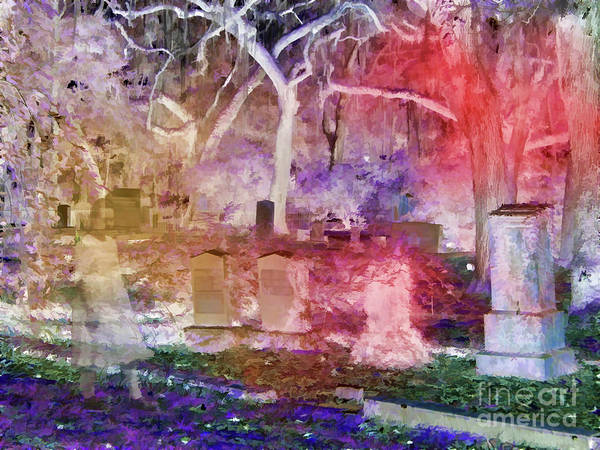 Photograph - Eerie Cemetery Child by D Hackett