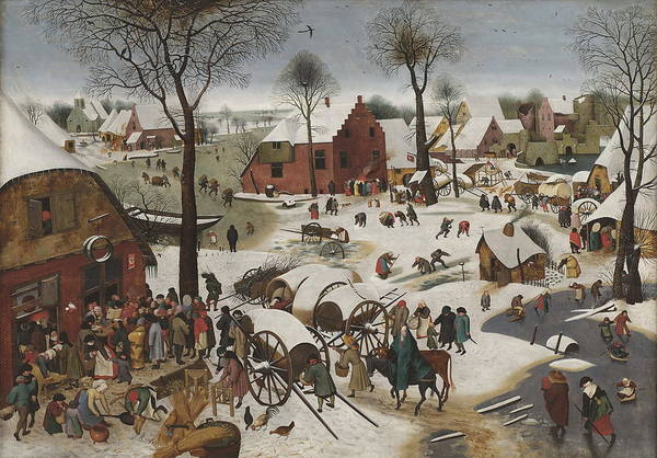Census Painting - Census At Bethlehem Around   by Pieter Brueghel The Younger