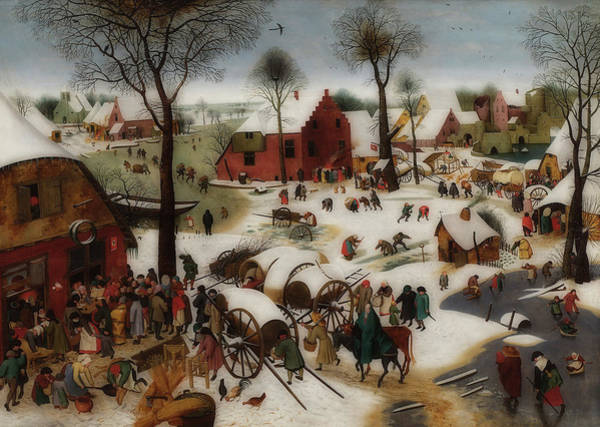 Census Painting - Census At Bethlehem by Pieter Brughel The Younger