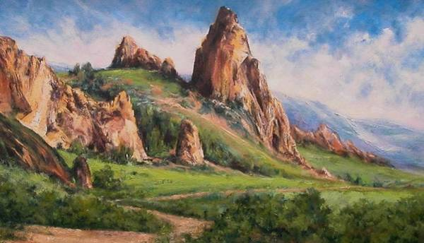 Stream Wall Art - Painting - Central Oregon by Jim Gola