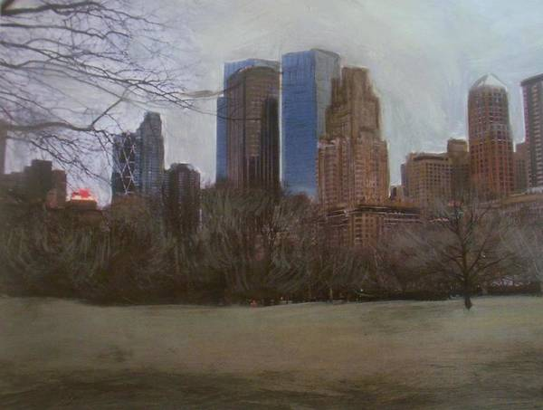 Painting - Central Park  by Anita Burgermeister