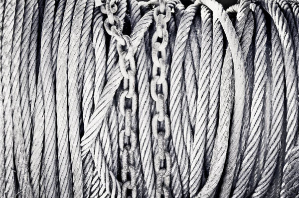 Cabling Photograph - Chains And Cables by Tom Gowanlock