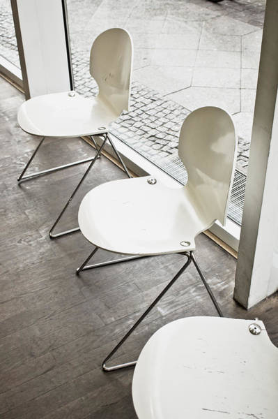 Metal Furniture Photograph - Chairs by Tom Gowanlock