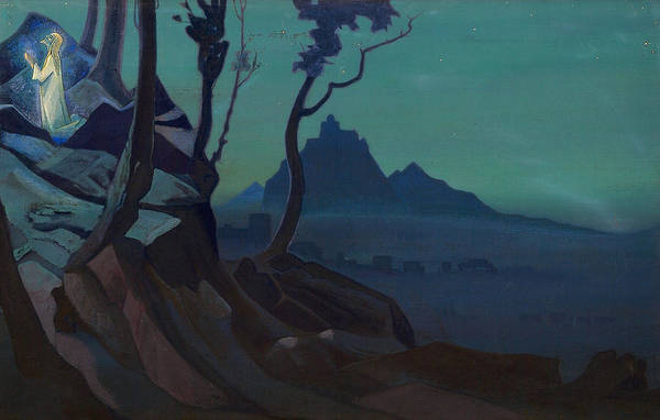 Metaphor Painting - Chalice Of Christ by Nicholas Roerich