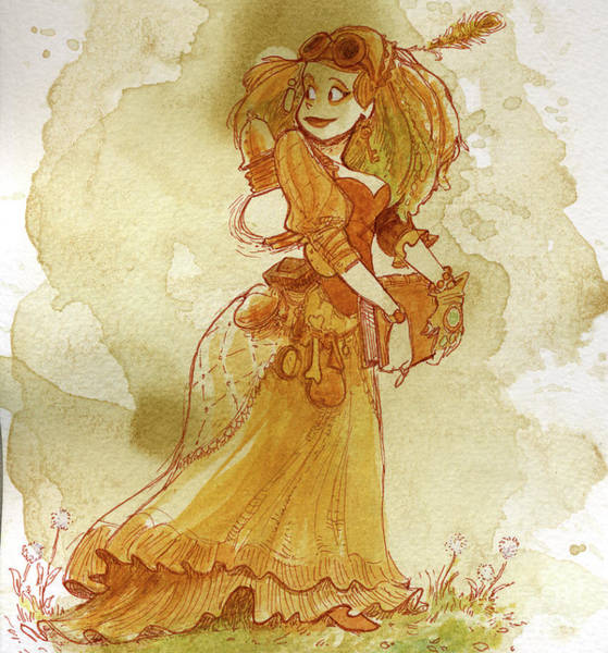 Wall Art - Painting - Chamomile by Brian Kesinger