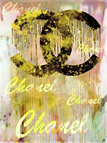 Wall Art - Mixed Media - Chanel Art Print by Del Art