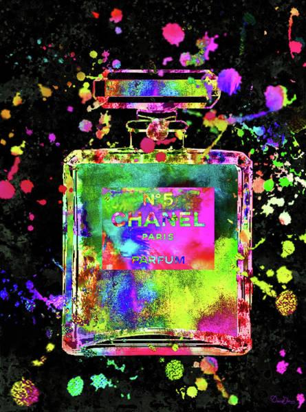 Wall Art - Digital Art - Chanel Perfume  N. 5 Print by Del Art