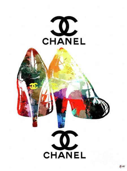 Vogue Mixed Media - Chanel Shoes Grunge by Daniel Janda