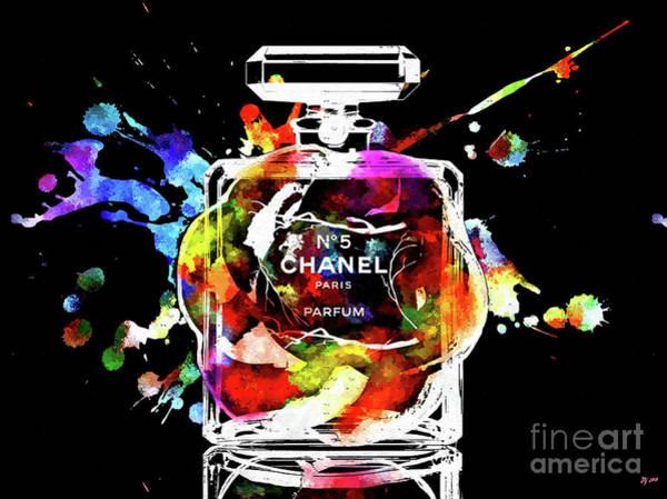 Vogue Mixed Media - Chanel Splash by Daniel Janda