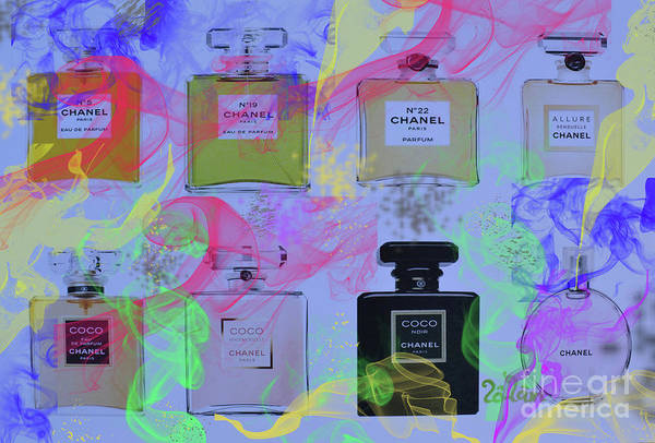 Wall Art - Mixed Media - Chanel Pafume by To-Tam Gerwe