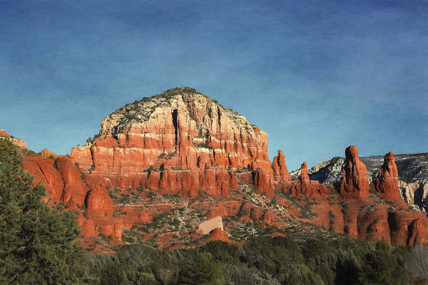 Red Rocks Of Sedona Photograph - Chapel Of The Holy Cross From Afar by Donna Kennedy