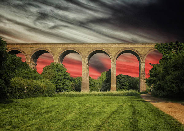 Railroad Bridge Photograph - Chapel Viaduct Essex Uk by Martin Newman