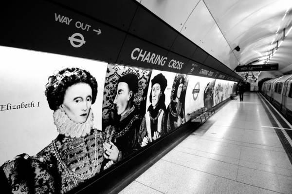 Wall Art - Photograph - Charing Cross Underground Station by Liz Pinchen