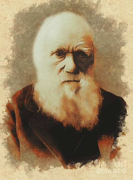 Evolution Painting - Charles Darwin, Scientist by Mary Bassett