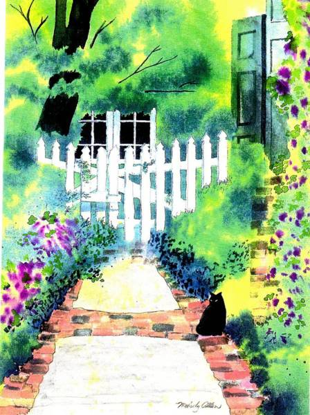Wall Art - Painting - Charleston Gate by Melody Allen