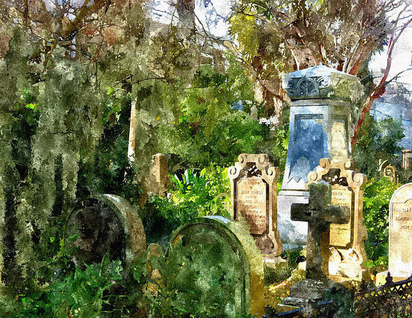 Photograph - Charleston Graveyard by Pat Moore